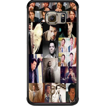 supernatural castiel collage For Samsung Galaxy S6 Edge Case **
