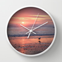 Sunset at Cannon Beach Oregon Wall Clock by Wood-n-Images
