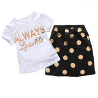 Summer Baby Girls Clothes Polka Dot Shorts 2pcs/set