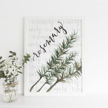 Rosemary Kitchen Herb Art Print