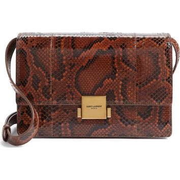 Saint Laurent Medium Bellechasse Genuine Python Shoulder Bag | Nordstrom