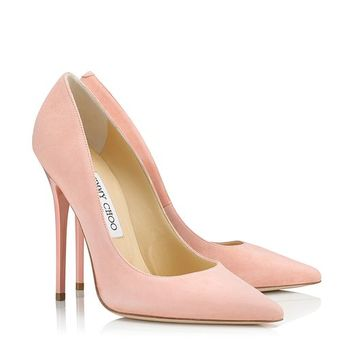 Sorbet Suede Pointy Toe Pumps   Anouk   Cruise 2013   JIMMY CHOO Shoes