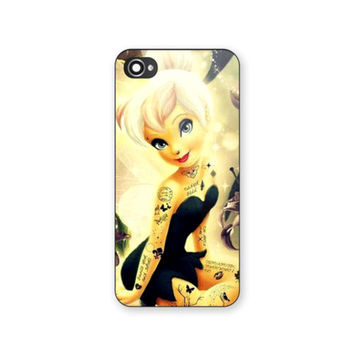 New Disney Tinkerbell Tattoo Print on Hard Case For iPhone 4/4s 5/5s 6s 6s plus