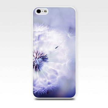 iphone 6 case dandelion iphone case 5s girly iphone case 4s floral iphone case 5 fine art iphone case 4 dandelion case purple lilac pastel