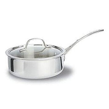 New Calphalon Tri-Ply 2.5-Quart Shallow Saucepan