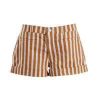 Henry & Belle Womens Maizey Striped Cuffed Casual Shorts