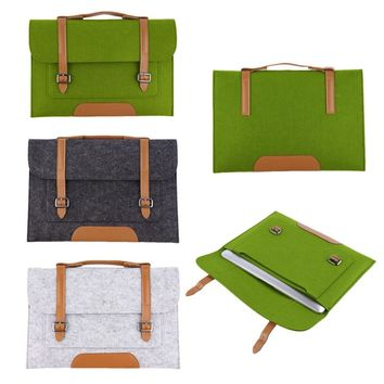 Fashion 13 inch Woolen Felt Laptop Cover Case
