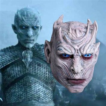 ONETOW New Game of Thrones Cosplay Night's King Mask Walker Face Night Re Zombie Mask Halloween Adults Throne Costume Party Accessory