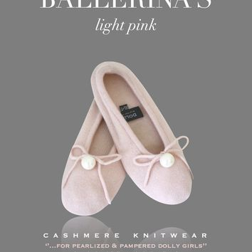 DOLLY by Le Petit Tom ® PEARLED BALLERINA SLIPPERS ballet pink