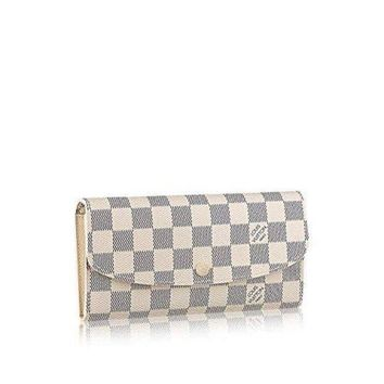 DCCK Louis Vuitton Damier Azur Canvas Emilie Wallet N63546  Louis Vuitton Handbag