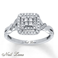 Neil Lane Designs Ring 1/3 ct tw Diamonds 14K White Gold