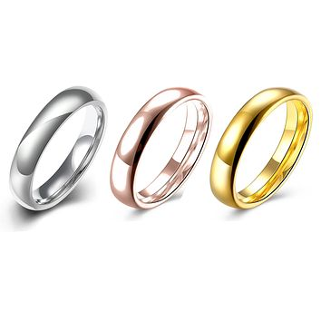 Wow! Special! Three Pack 18K Gold Plated Unisex Durable Band Rings