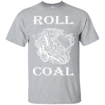 Sports Gear Auto Tshirt for Big Diesel Trucks Roll Coal-01