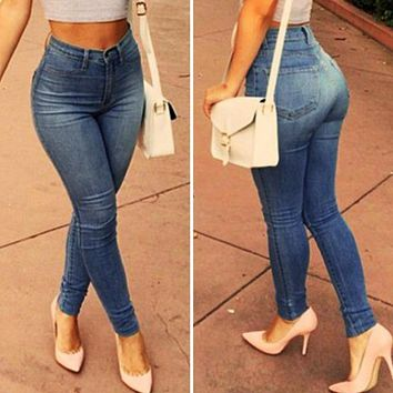 Jeans for women High Waist Jeans Woman High Elastic Stretch Pencil Denim Jegging Ladies Jeans Plus size Female Trousers