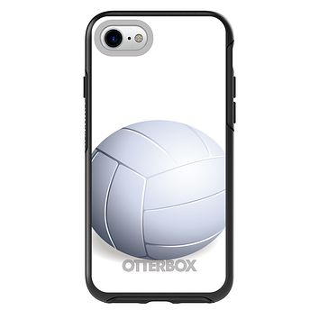 DistinctInk™ OtterBox Symmetry Series Case for Apple iPhone / Samsung Galaxy / Google Pixel - White Volleyball