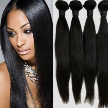 Malaysian Virgin Hair Straight 100% Real Human Hair Bundle 400g 6A