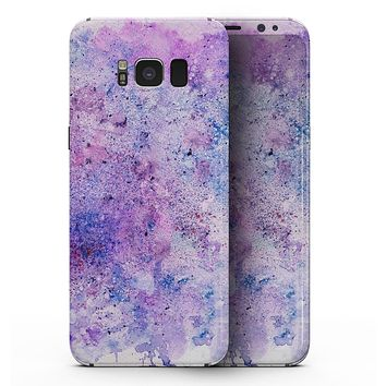 Blotted Pink and Purple Texture - Samsung Galaxy S8 Full-Body Skin Kit