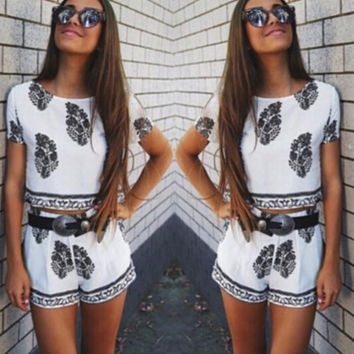 HOT PRINT TWO PIECE OUTFIT ROMPER