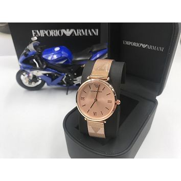 PEAP A006 Armani Emporio Steel band ladies simple small fresh waterproof quartz watches Rose Gold