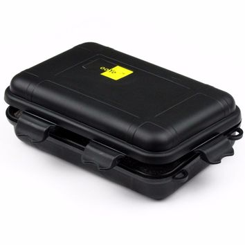 Size S/L Plastic Waterproof Airtight Case Fly Fishing Container Storage Travel Box Case Black