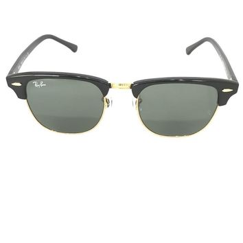 Ray-Ban RB3016 51/21 Clubmaster Black Frame/ Green Classic Lens Sunglasses