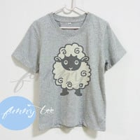 Animal farm sheep tshirt Crew neck sweatshirt Short sleeve t shirt+off white or grey toddlers shirt >>View bust size in inches options