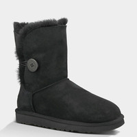 Ugg Bailey Button Womens Boots Black  In Sizes