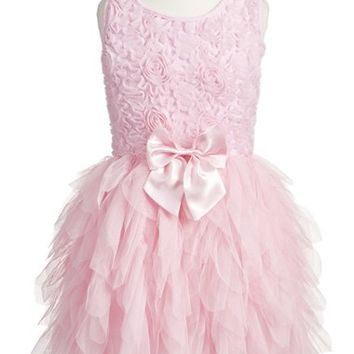 Popatu Ribbon Rosette Sleeveless Tulle Dress (Toddler Girls & Little Girls) | Nordstrom
