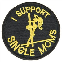 "OneTigris Single Moms Patch ""I Support Single Moms"" Embroidery Morale Cool Patches for Backpacks Hats Bags and Jackets"