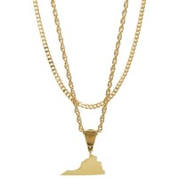 Mister State VA Necklace - Gold