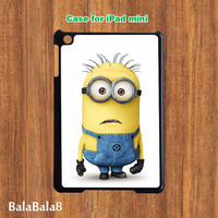 Despicable me  -- ipad Mini case in durable plastic protective black or white