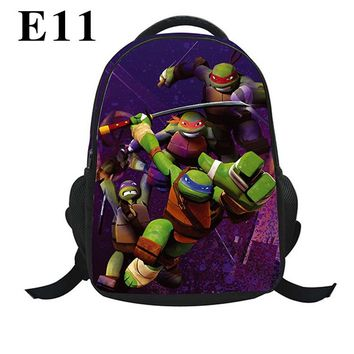 New Children School Bag Teenage Mutant Ninja Turtles 3D Print Bag Schoolbag Kids Backpack Mochila for Girl and Boys