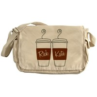 Castle Morning Coffee Cups Messenger Bag