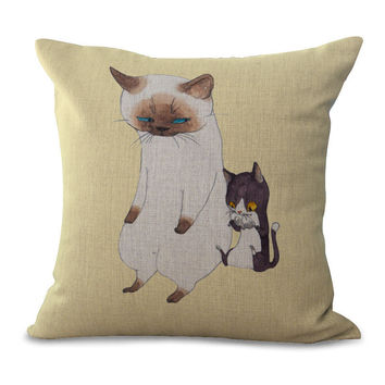 Cartoon Animal Cotton Embrace Pillow Case Hand The Dog Window Bedroom By Pillow Case Office Chair Cushion