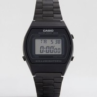 Casio B640WB-1AEF digital stainless steel watch in black at asos.com