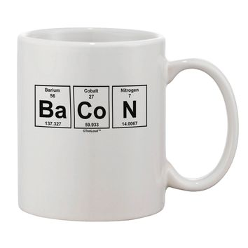 Bacon Periodic Table of Elements Printed 11oz Coffee Mug by TooLoud