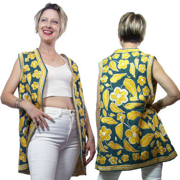 1960s to 1970s Embroidered Vest Middle Eastern Ethnic