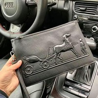 Hermes 2018 new men's clutch bag fashion tide brand envelope bag