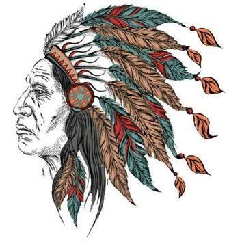 Cowboys PVC Patch deal with it Clothes Indian chief Heat Transfer Printing T shirt Women iron on patches for clothing Stickers