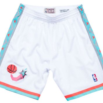 Mitchell & Ness 1995 All Star West Swingman Shorts in White