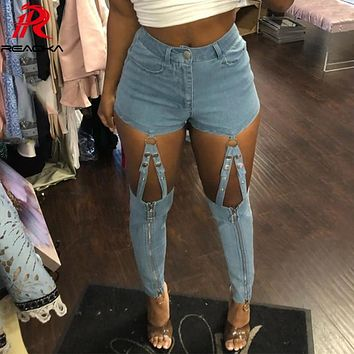 Sexy befree High waist jeans woman Summer Calca skinny ripped jeans for women Vintage Hollow Out denim jeans womens pants femme