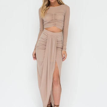 Babe Town Sheer Crop Top 'N Skirt Set GoJane.com