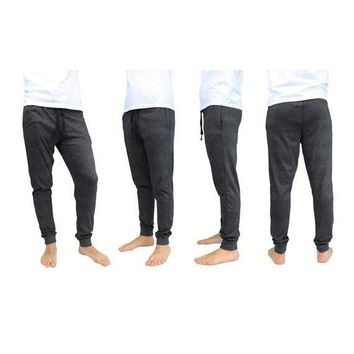 Men's Soft Knit Marled Jogger Lounge Pants
