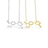 Adrenaline Molecule Necklace Chemical Structure DNA Necklaces