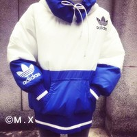 ADIDAS Fashion loose cotton-padded jacket bread warm cotton-padded clothes suit men an