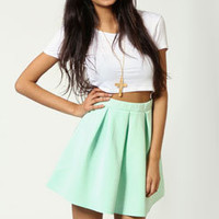 Leanne Box Pleat Skater Skirt