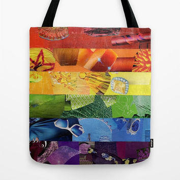 Rainbow Tote Bag, Canvas Tote Bag, Womens Totes, Shopping Tote, Beach Tote, Unique Valentine Gift Ideas, Gay Pride