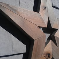 "Handmade Primitive Barnwood Star 24"" Rustic Farmhouse Wood Christmas Decor"