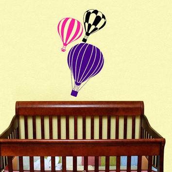 Housewares Hot air Balloons Wall Vinyl Decal Sticker Kids Nursery Baby Room Decor V286