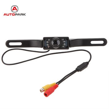 Waterproof Car License Plate Frame Rear View Camera 648P HD Vehicle Back Front Side View 140 Color 7 Infrared LED Night Vision